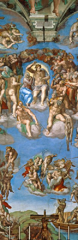 The Last Judgement - Sistine Chapel, ceiling fresco, detail