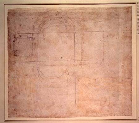 Architectural Drawing Michelangelo Buonarroti As Art Print Or