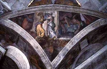 Sistine Chapel Ceiling Judith Carrying Michelangelo
