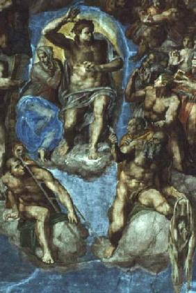 Christ, detail from 'The Last Judgement', in the Sistine Chapel