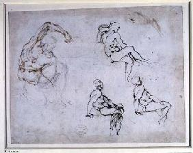 Figure Drawings (W.8 verso)