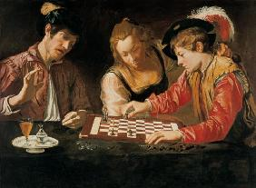 Caravaggio School / Chess Players / Ptg.