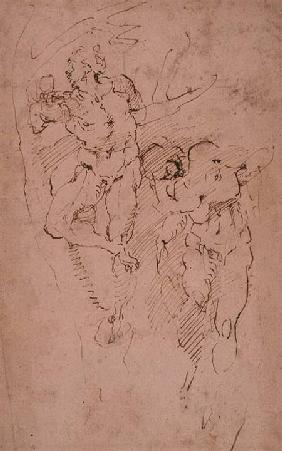 Studies of Male Nudes (ink) Inv.9/15/539 (W.12)