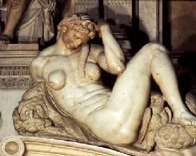 Tomb of Giuliano de' Medici, detail of Night