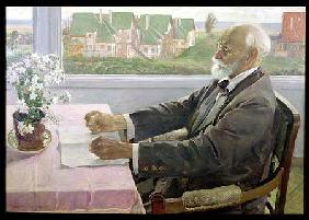 Ivan Petrovich Pavlov (1849-1936) in his House at Koltushy, near St. Petersburg