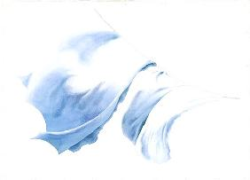 Sheet and Pillowcases in Tiree Wind, 2004 (w/c on paper)