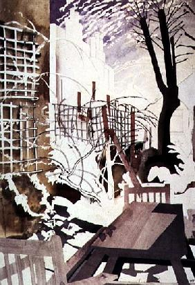 Stark Winter Back-Garden, 1992 (w/c on paper)