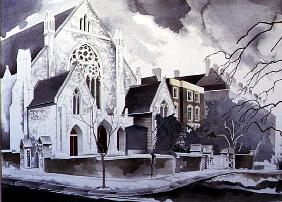 The Grey Nonconformist Church, 1998 (w/c on paper)