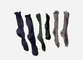 Six Socks, 2003 (w/c on paper)