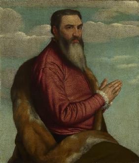 Praying Man with a Long Beard
