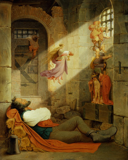 The dream of the prisoner - Moritz von Schwind as art print