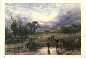 Landscape with Cattle and Bridge