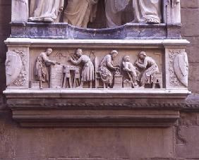 Relief depicting artists and craftsmen at work, from the base of the niche depicting the Quattro Cor