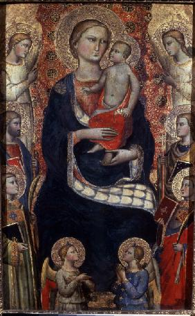 Madonna with Child, Saints and Angels