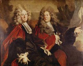 Portrait of Alderman Hugues Desnots and Alderman Bouhet elected in 1702