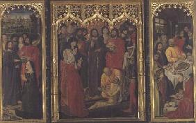 Resurrection of Lazarus Triptych; The Raising of Lazarus (central panel); Martha at the Feet of Chri