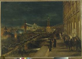 Illumination of Moscow on the occasion of the Coronation of Emperor Alexander III on 15th May 1883