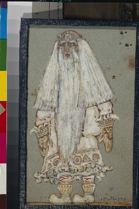 Ded Moroz. Costume design for the theatre play Snow Maiden by A. Ostrovsky