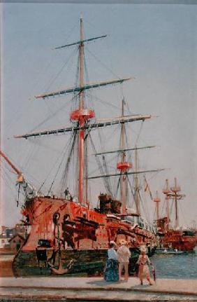Building of the Battleship 'Admiral Kornilov' in Brittany