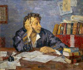 Portrait of the poet Alexander S. Pushkin