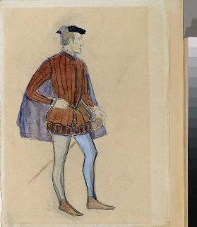 Costume design for the theatre play The Miserly Knight by A. Pushkin