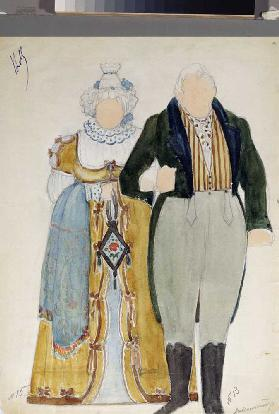 Costume design for the opera Eugene Onegin by P. Tchaikovsky