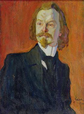 Portrait of Konstantin Balmont, 1909