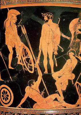 Herakles and Greek heroes, detail from a - Niobid Painter as