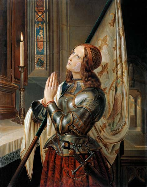 Jeanne D Arc N M Dyudin As Art Print Or Hand Painted Oil