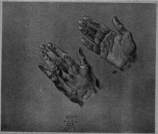 A D 252 Rer Hands Of The Emperor Drawing Albrecht D 252 Rer