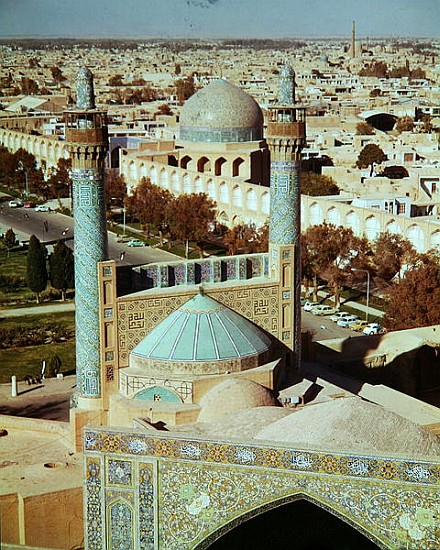 Aerial view of the Masjid-i-Shah, Safavi - Artist Artist as art