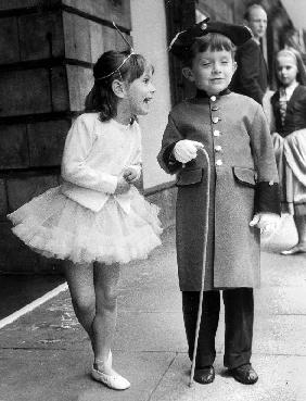 Anna and Anthony the children of Princess Lee Radziwill sister of JackieKennedy here before theatre
