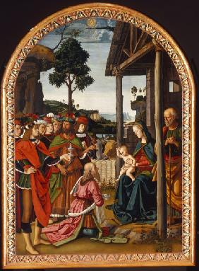 Adoration of Kings / Perugino / 1475