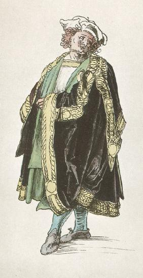 A.Dürer, Design for Court Dress / 1515