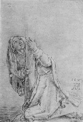 A.Dürer, Magdalene beneath the Cross