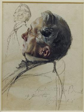 August Bernuth, Watercolour by Menzel