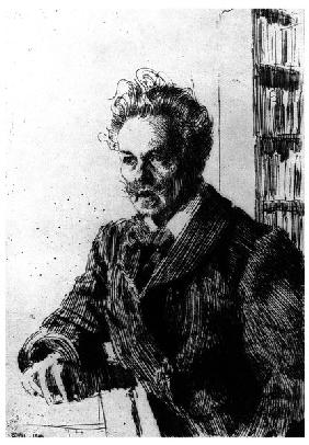 August Strindberg / Etching by Zorn