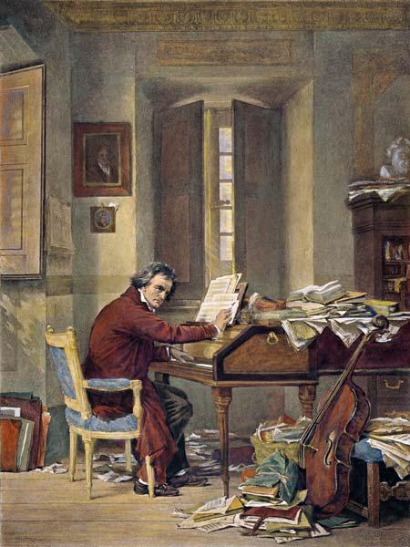 Beethoven Composing , Schl...