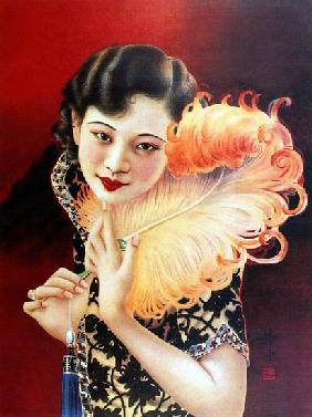 China: Art Deco influences Chinese glamour pin-up girl, Shanghai