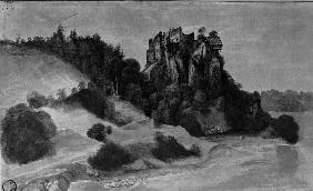 Castle Ruins by a River / Dürer / 1494/5