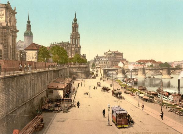 Dresden Br Hlsche Terrasse Artist Artist As Art Print Or Hand