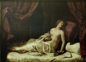 Death of Cleopatra /Ptg.by Guercino/ C17