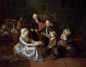 F.G.Waldmüller, Die Adoption