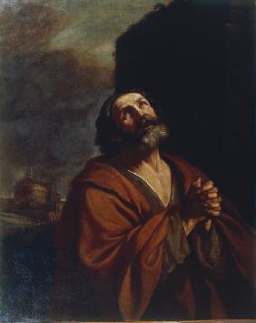 Guercino / The repentent Petrus