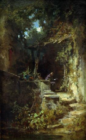 Hermit Reading / C.Spitzweg