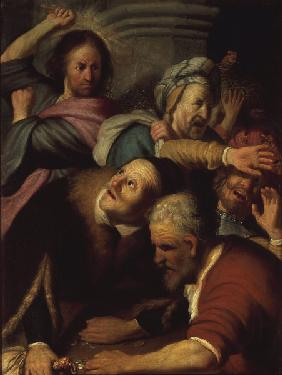 Jesus and the Money-changers / Rembrandt