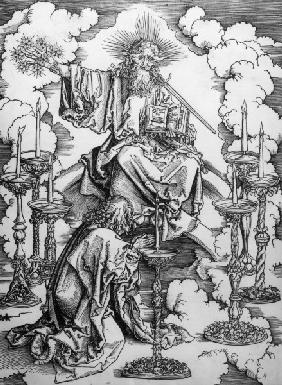 John sees the 7 lamps / Dürer / c.1497/8