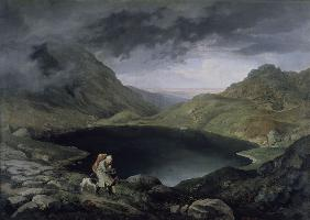 L.Richter, Lake in Riesengebirge /1839