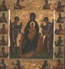 Madonna and Child Enthroned, icon, Veneto-Cretan, 15th century (tempera on panel)