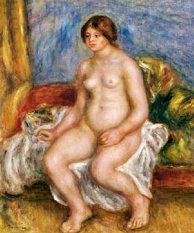 Nude Woman On Green Cushions